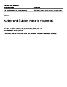 Author and Subject Index to Volume 93