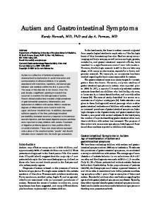 Autism and Gastrointestinal Symptoms