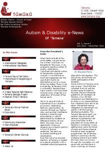 Autism & Disability e-news