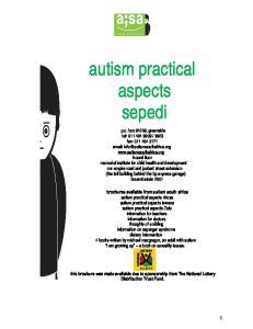 autism practical aspects sepedi