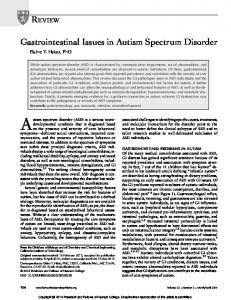 Autism spectrum disorder (ASD) is a serious neurodevelopmental