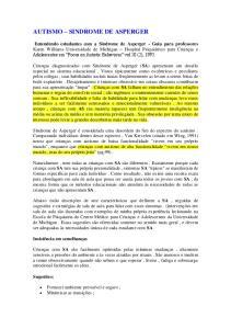AUTISMO SINDROME DE ASPERGER