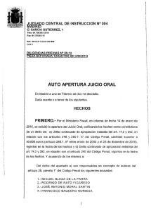 AUTO APERTURA JUICIO ORAL