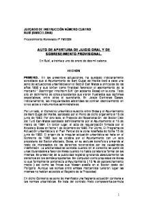 AUTO DE APERTURA DE JUICIO ORAL Y DE SOBRESEIMIENTO PROVISIONAL