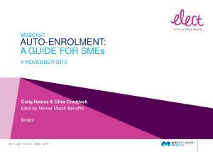 AUTO-ENROLMENT: A GUIDE FOR SMEs