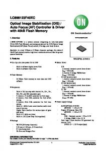 Auto Focus (AF) Controller & Driver with 40kB Flash Memory