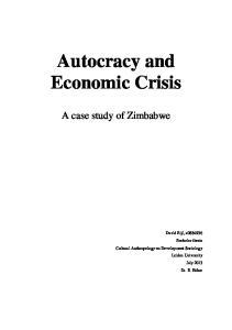 Autocracy and Economic Crisis