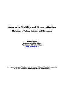 Autocratic Stability and Democratization