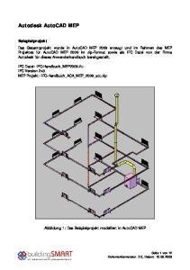 Autodesk AutoCAD MEP. IFC Datei: IFC-Handbuch_MEP2009.ifc IFC Version 2x3 MEP Projekt: IFC-Handbuch_ACA_MEP_2009_atc.zip