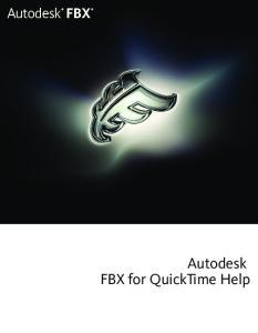Autodesk FBX for QuickTime Help