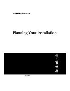 Autodesk Inventor Planning Your Installation