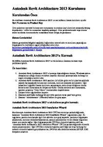 Autodesk Revit Architecture 2013 Kurulumu