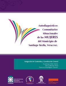 Autodiagnósticos Comunitarios Situacionales de las MUJERES del Municipio de Santiago Tuxtla, Veracruz