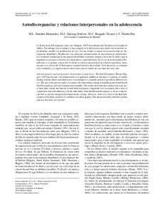 Autodiscrepancias y relaciones interpersonales en la adolescencia