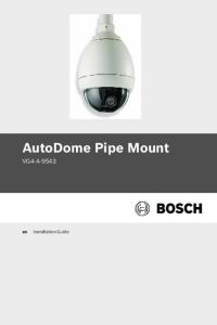 AutoDome Pipe Mount VG4-A Installation Guide