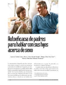 Autoeficacia de padres para hablar con sus hijos acerca de sexo