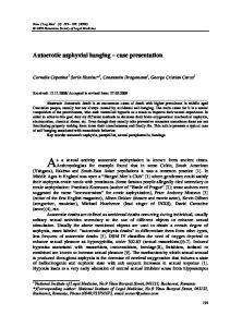 Autoerotic asphyxial hanging case presentation