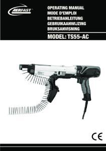 AUTOFEED SCREW DRIVER MODEL TS55-AC