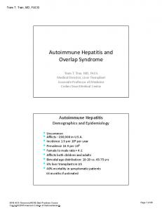 Autoimmune Hepatitis and Overlap Syndrome