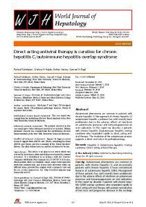autoimmune hepatitis overlap syndrome