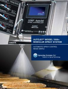 AUTOJET MODEL MODULAR SPRAY SYSTEM AUTOMATIC SPRAY CONTROL MADE SIMPLE