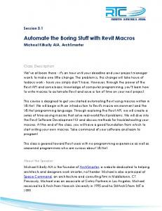 Automate the Boring Stuff with Revit Macros