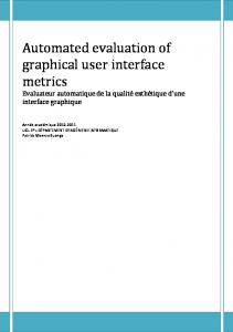 Automated evaluation of graphical user interface metrics