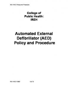 Automated External Defibrillator (AED) Policy and Procedure