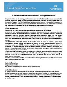 Automated External Defibrillator Management Plan