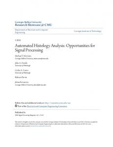 Automated Histology Analysis: Opportunities for Signal Processing