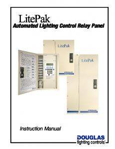Automated Lighting Control Relay Panel