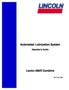 Automated Lubrication System