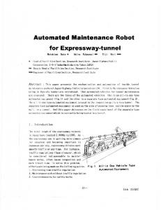 Automated Maintenance Robot for Expressway-tunnel