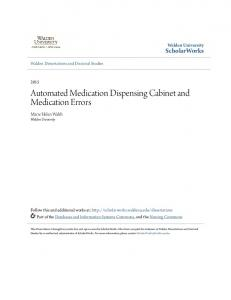 Automated Medication Dispensing Cabinet and Medication Errors