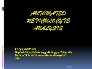 AUTOMATED RETICULOCYTE ANALYSIS