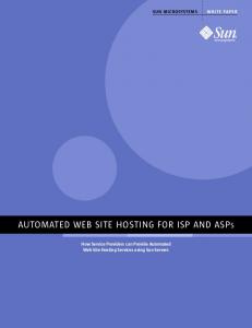 AUTOMATED WEB SITE HOSTING FOR ISP AND ASPS