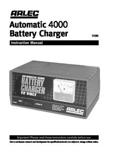 Automatic 4000 Battery Charger