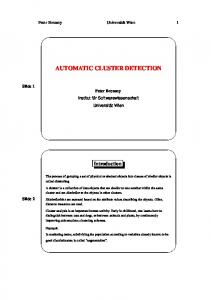 AUTOMATIC CLUSTER DETECTION