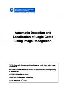 Automatic Detection and Localization of Logic Gates using Image Recognition
