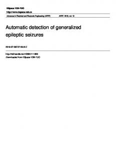 Automatic detection of generalized epileptic seizures