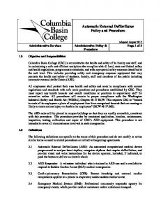 Automatic External Defibrillator Policy and Procedure