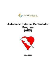Automatic External Defibrillator Program (AED)