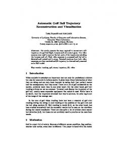 Automatic Golf Ball Trajectory Reconstruction and Visualization