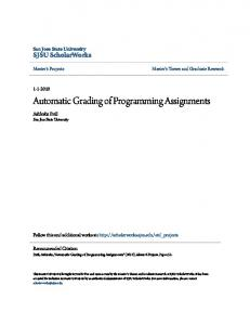 Automatic Grading of Programming Assignments