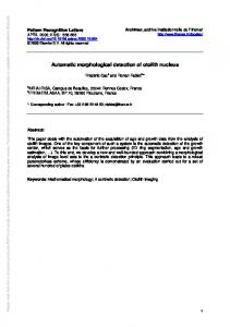 Automatic morphological detection of otolith nucleus