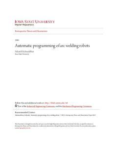 Automatic programming of arc welding robots