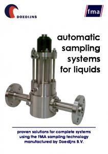 automatic sampling systems for liquids