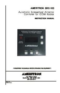 Automatic Screwdriver Antenna Controller for ICOM Radios