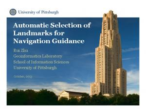 Automatic Selection of Landmarks for Navigation Guidance