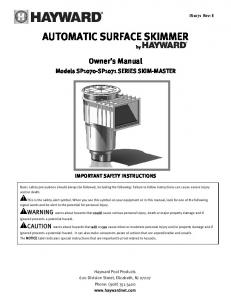 AUTOMATIC SURFACE SKIMMER